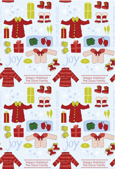 gift wrap - Winter Wear by Stacey Montgomery