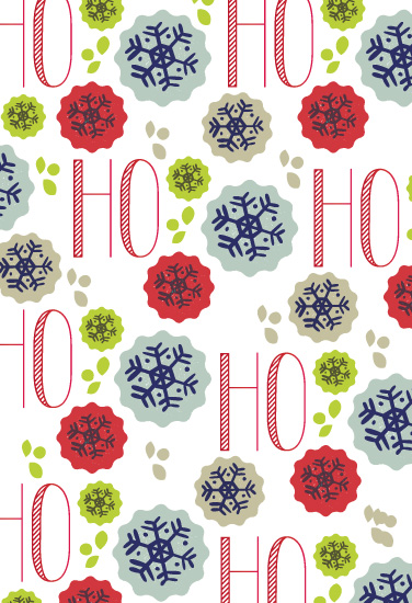 gift wrap - Ho Ho Ho Holidays by chica design