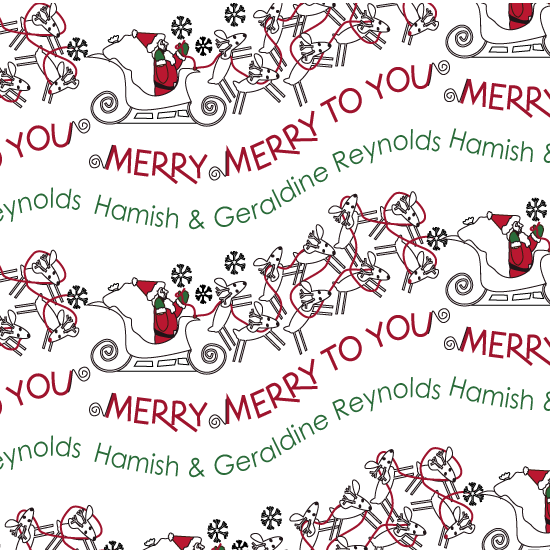 gift wrap - Merry Merry, Ho-Ho-Ho by MK Colling