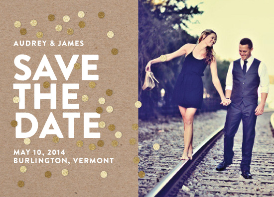 save the date cards - Confetti Glitz Photo by Ashley Hegarty