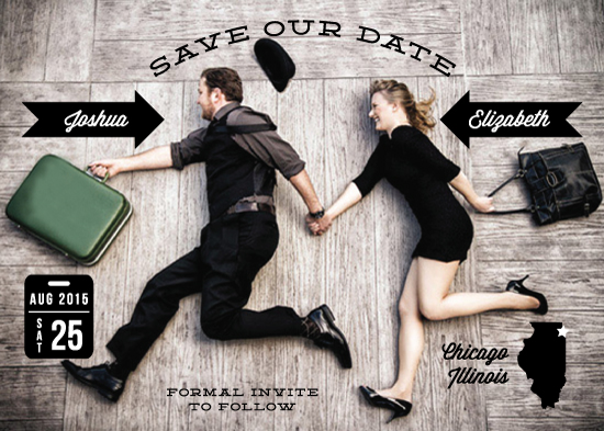 save the date cards - Wedding Stats by Lehan Veenker