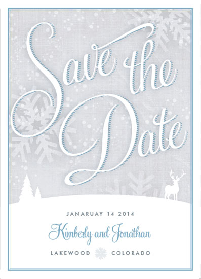 save the date cards - Winter Wonderland by Kelly Mills