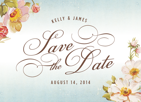 save the date cards - Vintage Floral by Kelly Mills