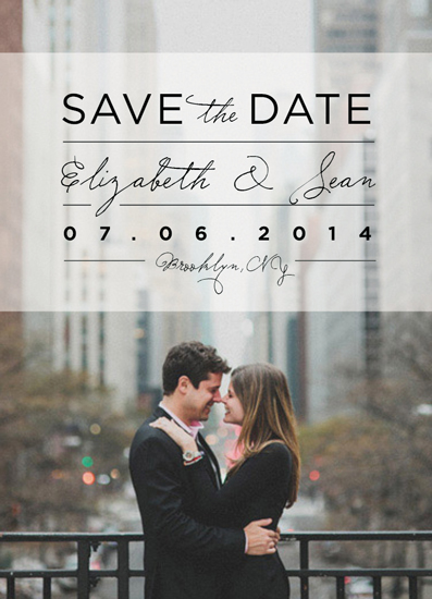 save the date cards - City Sophistication by Kelly Mills