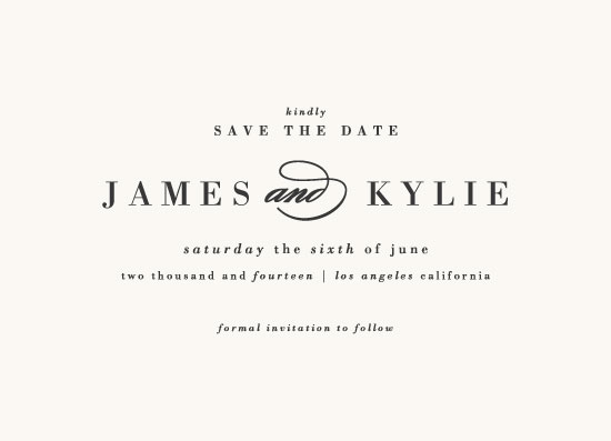 save the date cards - Classically Stated by roxy