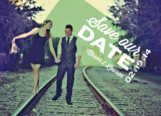 save the date cards - Breaking the Grid by Lauren Rust