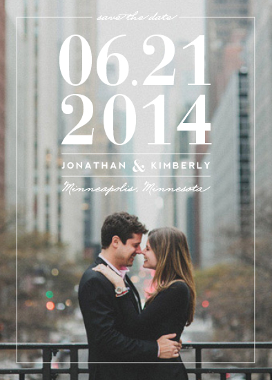 save the date cards - By The Numbers by Shari Margolin