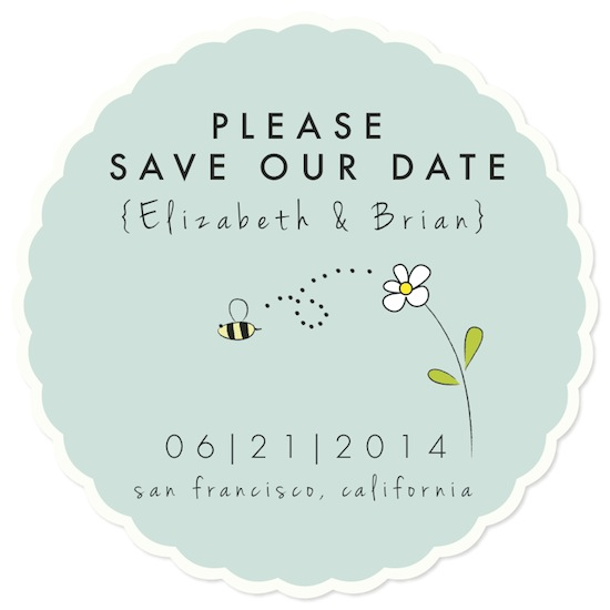 save the date cards - Sweet Honey Bee by loves me knot designs