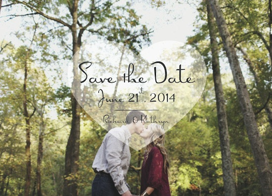 save the date cards - My Heart Takes Over by loves me knot designs