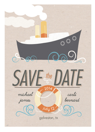 save the date cards - Fantastic Cruise Wedding at Minted.com