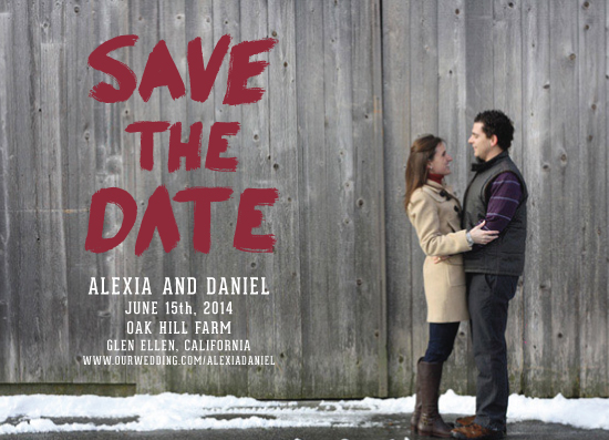 save the date cards - rustic barn painting by Paper Monkey Press