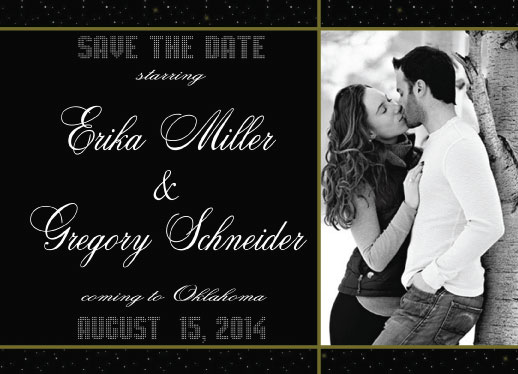 save the date cards - Starring by Cindy Jost