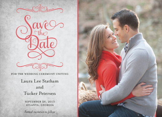 save the date cards - Just My Type by The Picture Portal