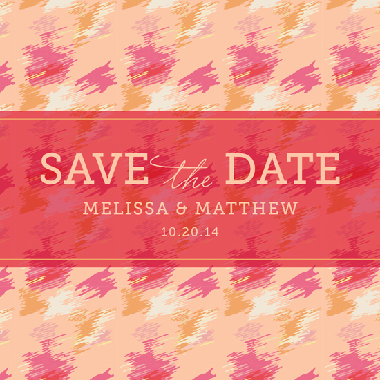 save the date cards - All About Ikat by Kelly Mills