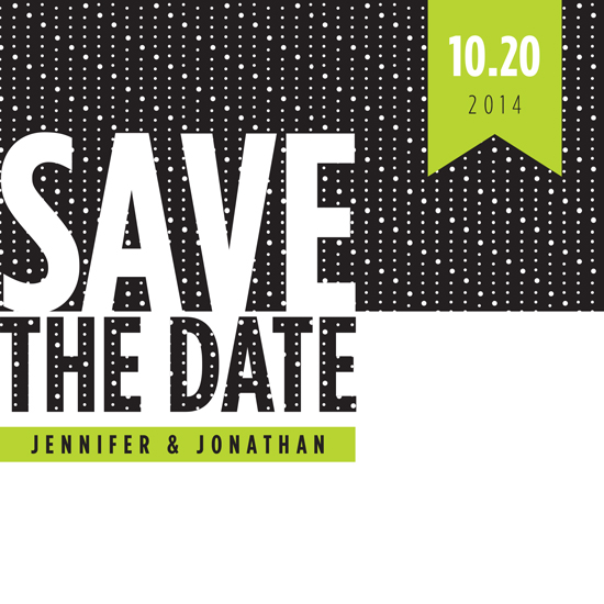 save the date cards - For the love of Neon by Kelly Mills