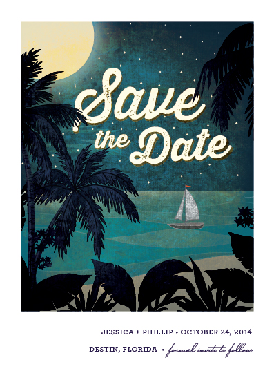 save the date cards - at dusk by Rebecca Bowen