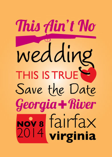 save the date cards - This Is True Love by Tanner Clark