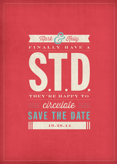 save the date cards - STD by Kelly Mills