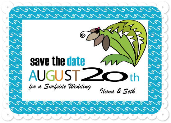 save the date cards - Surfs Up by Carole Weitz