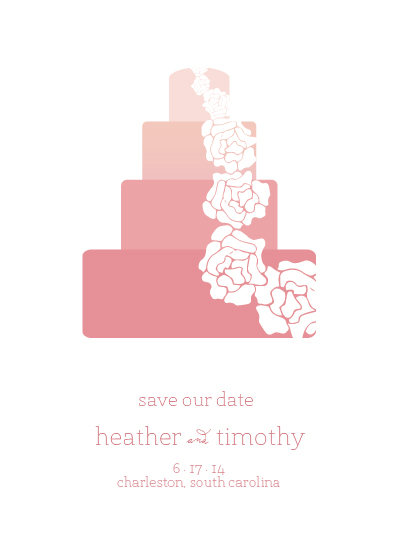 save the date cards - Petal Cake by From Tiffany