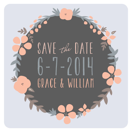 save the date cards - Woodland Wreath by Paper Belle