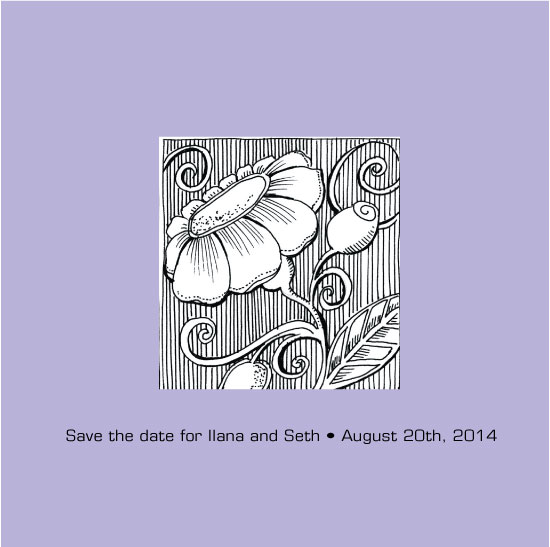 save the date cards - Bookplate motif by Carole Weitz