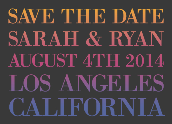 save the date cards - Bold Gradient by From Tiffany