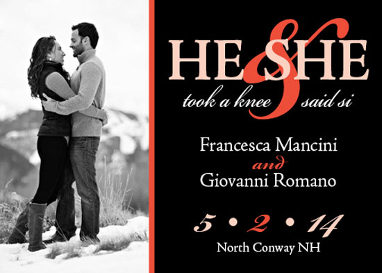 save the date cards - She Said