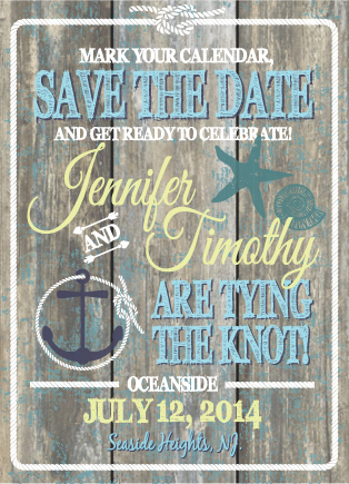 save the date cards - Oceanside by Lindsay Kivi