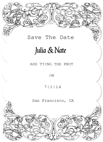 save the date cards - our day is coming by Neeta Sawhney