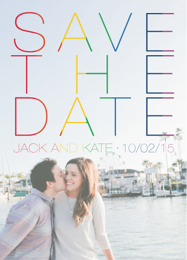 save the date cards - All The Colors by Matt Scauzillo