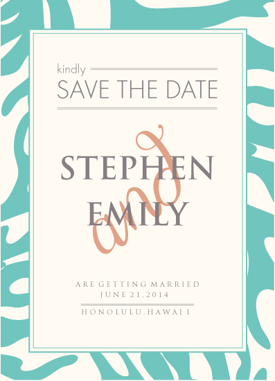 save the date cards - tropical by PAPERlicious