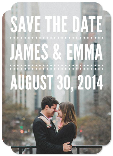 save the date cards - Bold by Dogear Press