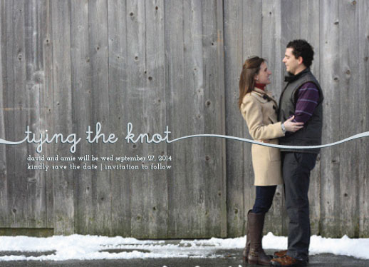 save the date cards - They're Tying the Knot by Heather Steed