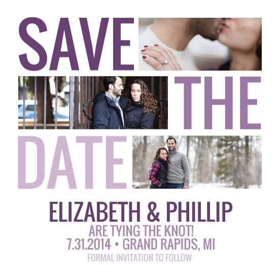 save the date cards - Ombre Love by Fran Gulick