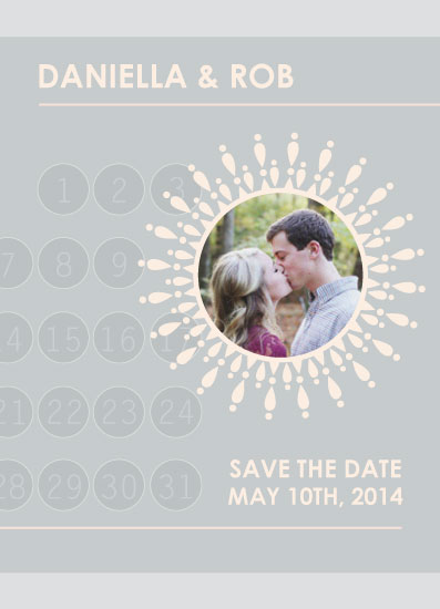 save the date cards - Blooming Happiness by Suzanne MK