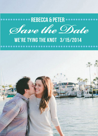 save the date cards - We're tying the knot by Suzanne MK