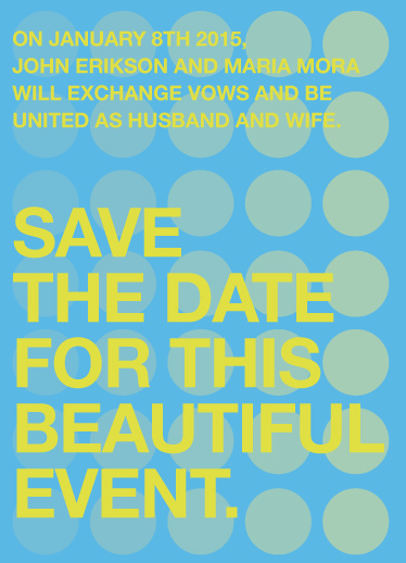 save the date cards - A Beautiful Event. by Matt Scauzillo