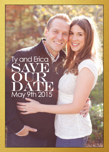 save the date cards - Ring of Gold by Matt Scauzillo