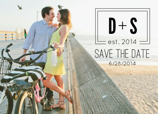 save the date cards - Established by Dogear Press