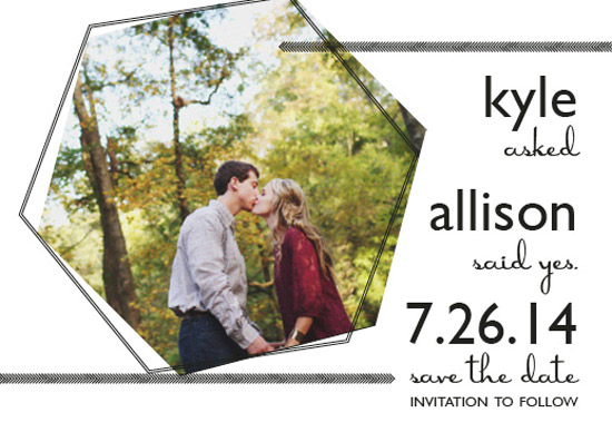 save the date cards - Geometric Yes by Megan Elgin