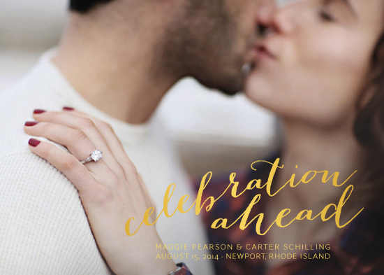 save the date cards - Celebration Ahead by Chelsey Emery