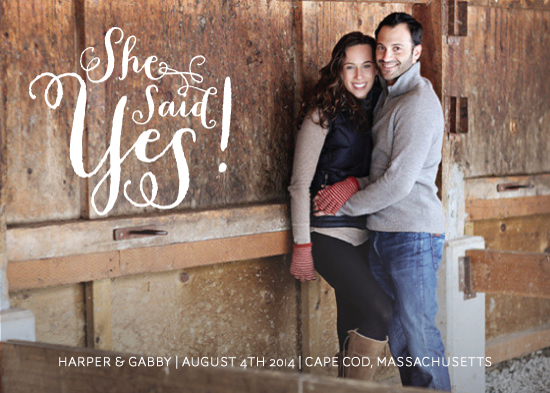 save the date cards - Said Yes by Chelsey Emery