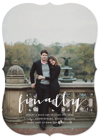save the date cards - Finally Happened by Chelsey Emery