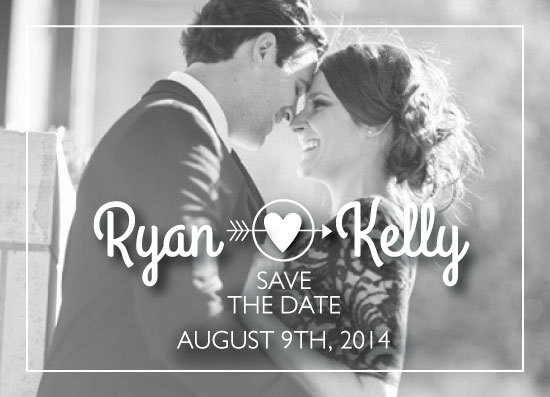 save the date cards - Arrow & Heart by Suzanne MK