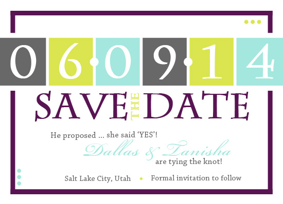 save the date cards - Bold & Beautiful by Shayla