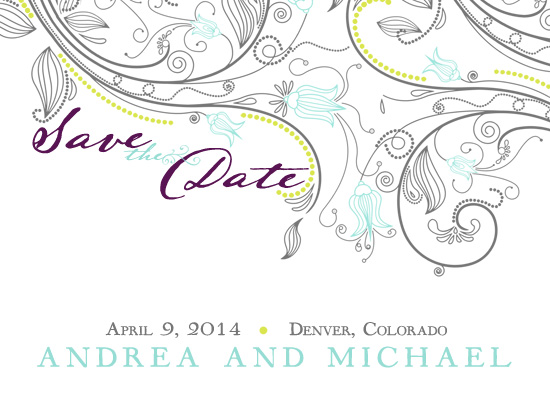 save the date cards - Flowers All Around by Shayla