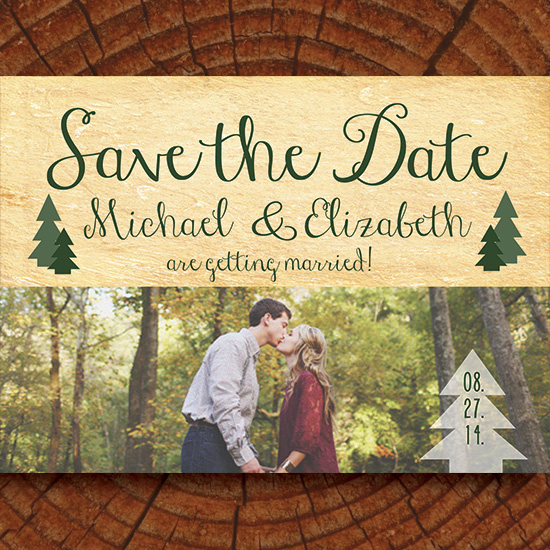save the date cards - Whimsical Woodland by Katherine Lau