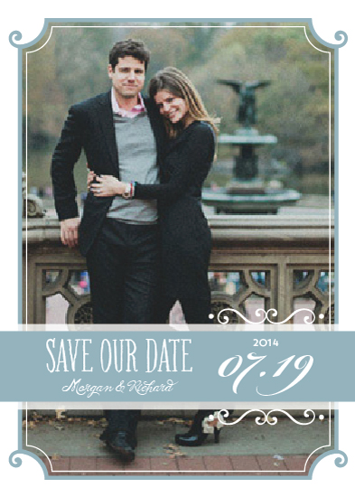 save the date cards - Vintage Charm by Social Grace