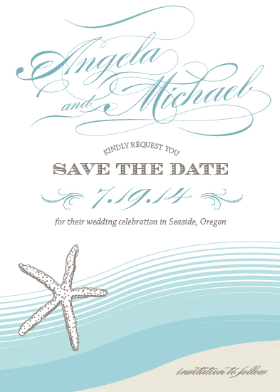 save the date cards - Beside the Sea by Social Grace